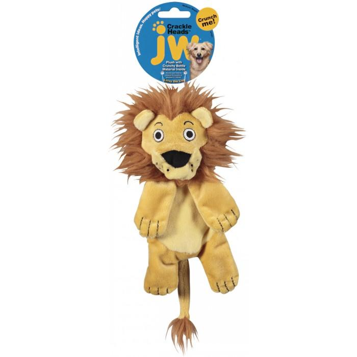Jw Crackle Heads Plush Lion Medium 150 Dog Toys Jw Pet