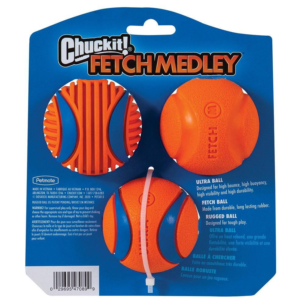 "Chuckit! FETCH MEDLEY GEN3 MEDIUM 2.5"" - 3pk"
