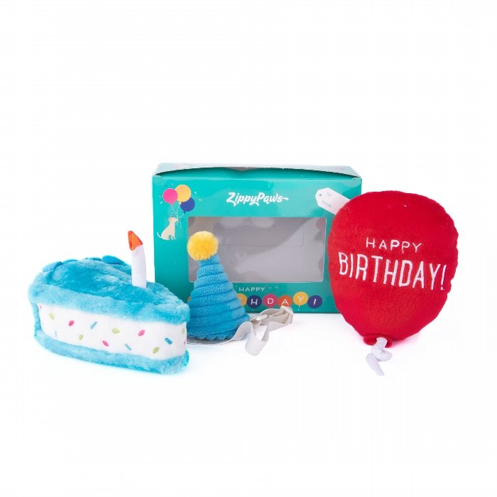 ZippyPaws - BIRTHDAY BOX 3pk - Click to enlarge