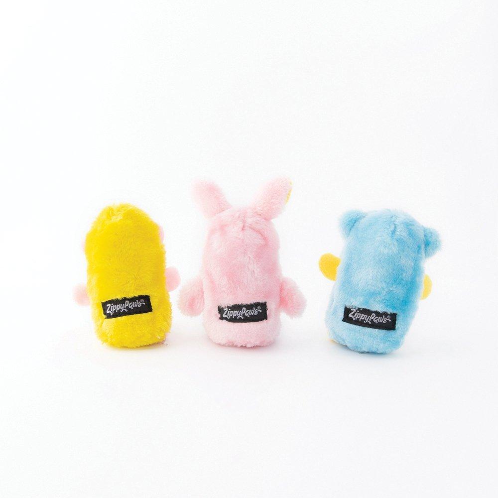 ZippyPaws - SQUEAKIE BUDDIES - BEAR, BUNNY & MONKEY 3pk