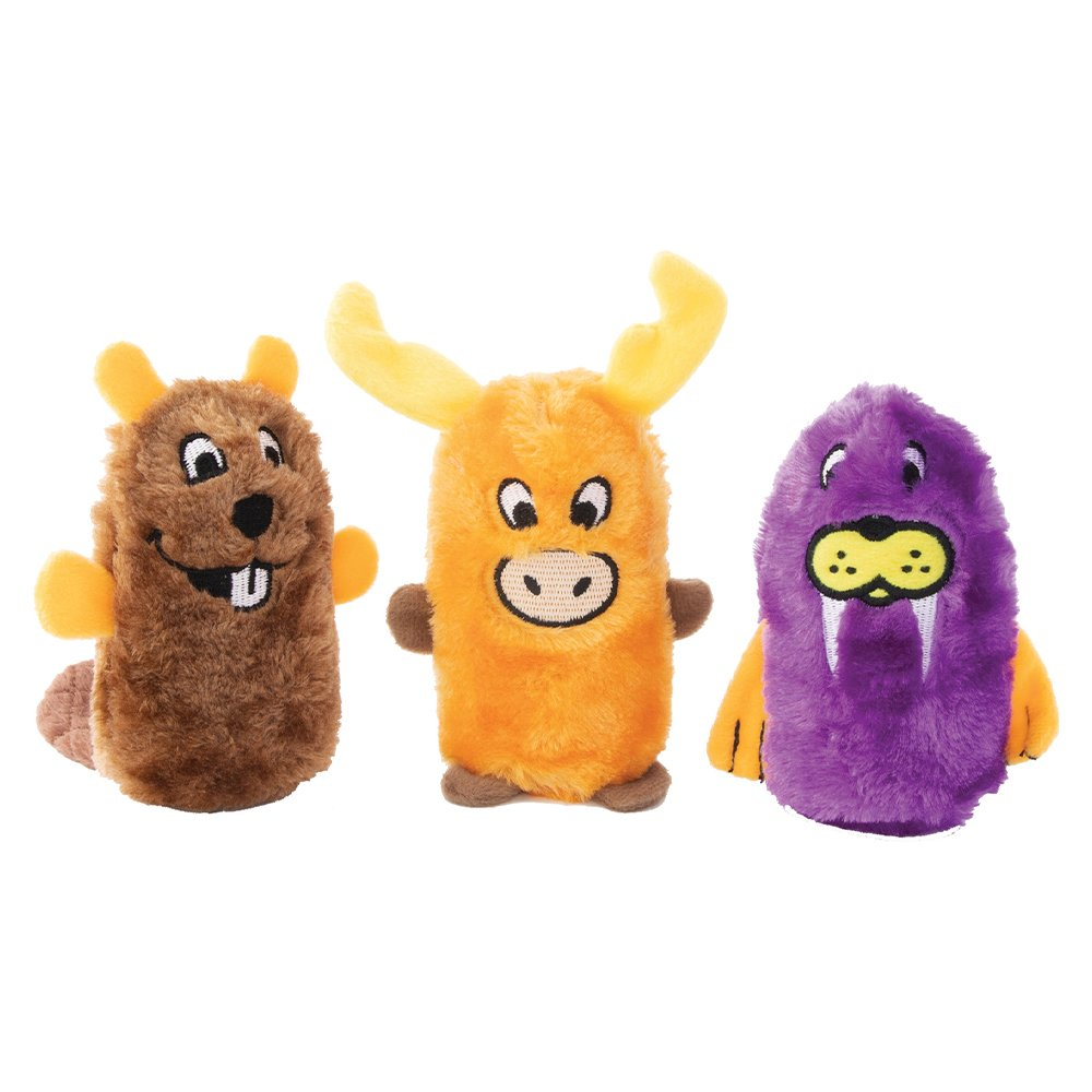 ZippyPaws - SQUEAKIE BUDDIES - BEAVER, MOOSE & WALRUS 3pk - Click to enlarge