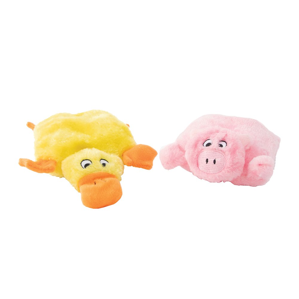 ZippyPaws - SQUEAKIE PADS - DUCK & PIG 2pk - Click to enlarge