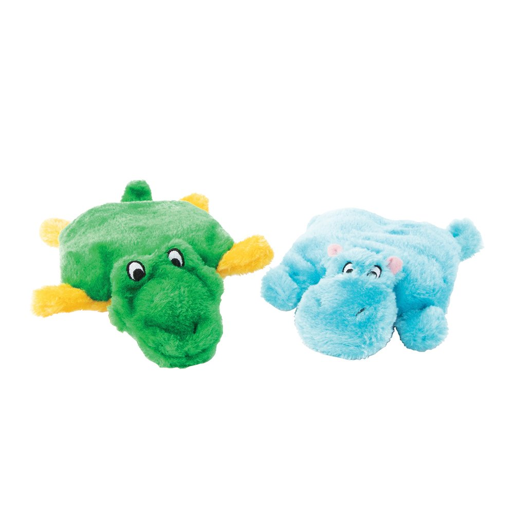ZippyPaws - SQUEAKIE PADS - HIPPO & ALLIGATOR 2pk - Click to enlarge