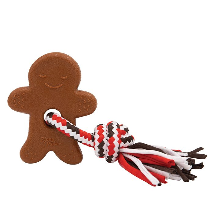 ZippyPaws - HOLIDAY TEETHERZ GINGERBREAD MAN 17.5 x 12.5cm - Click to enlarge