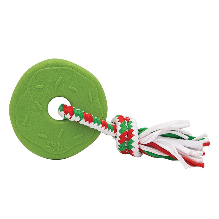 ZippyPaws - HOLIDAY TEETHERZ DONUT GREEN 20 x 10cm - Click to enlarge
