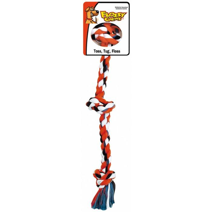 "Flossy Chews THREE KNOT TUG Mini 10"" (25cm)"