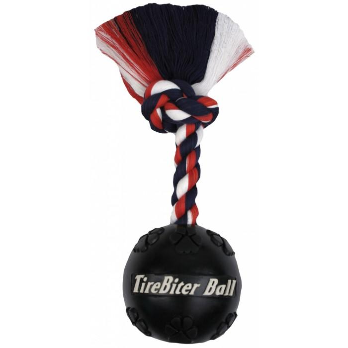 "TireBiter BALL 4.5"" (11cm) w/7"" (18cm) Rope - Click to enlarge"