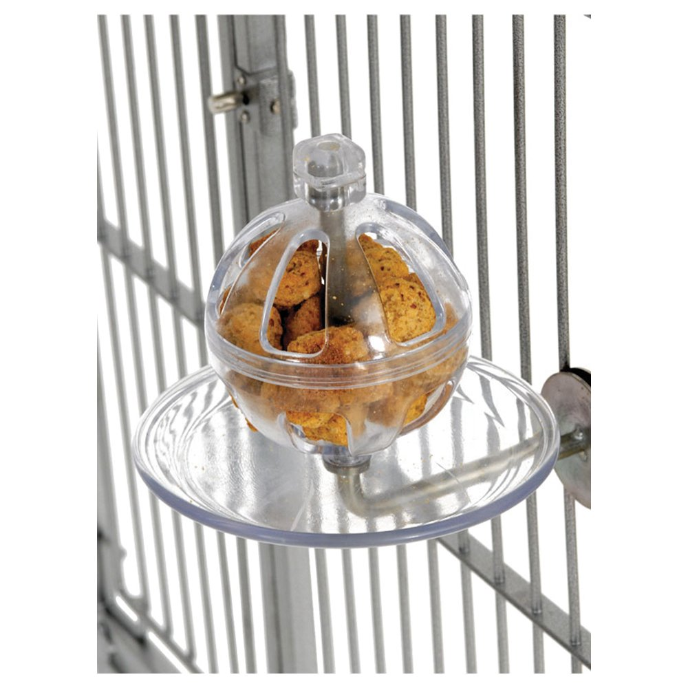 Featherland Paradise BUFFET BALL CAGE MOUNTED (17.5 x 15cm) - Click to enlarge