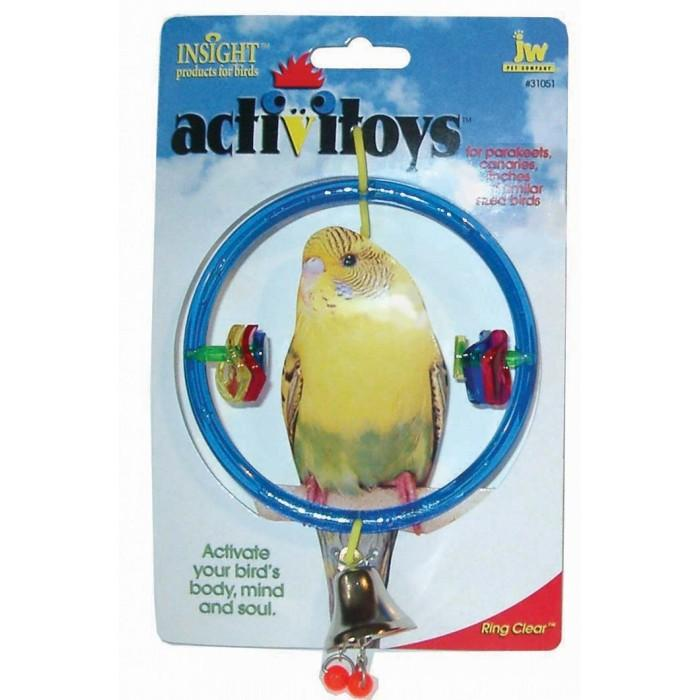 JW Insight BIRD TOY RING CLEAR - Click to enlarge