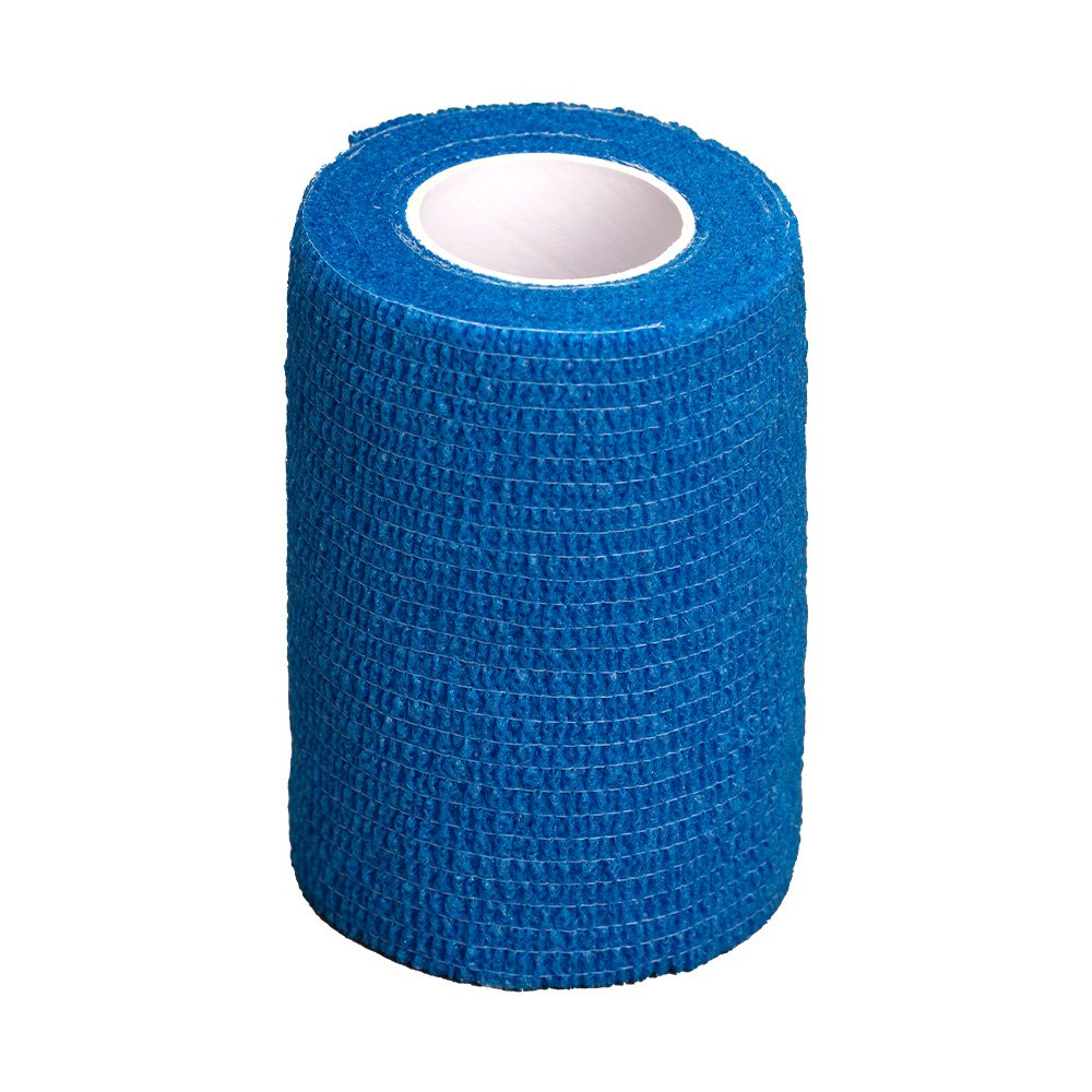 GlobalFlex - EASY-RIP COHESIVE BANDAGE BLUE (7.5cm x 4.5m) - Click to enlarge