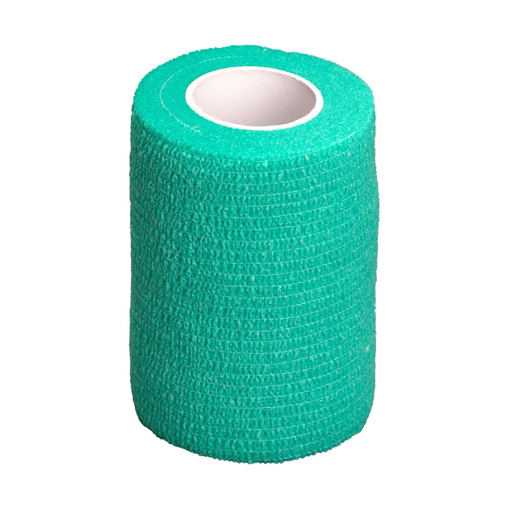 GlobalFlex - EASY-RIP COHESIVE BANDAGE GREEN (7.5cm x 4.5m) - Click to enlarge