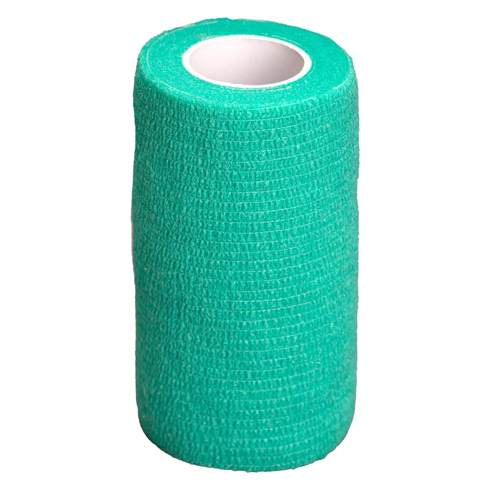 GlobalFlex - EASY-RIP COHESIVE BANDAGE GREEN (10cm x 4.5m) - Click to enlarge