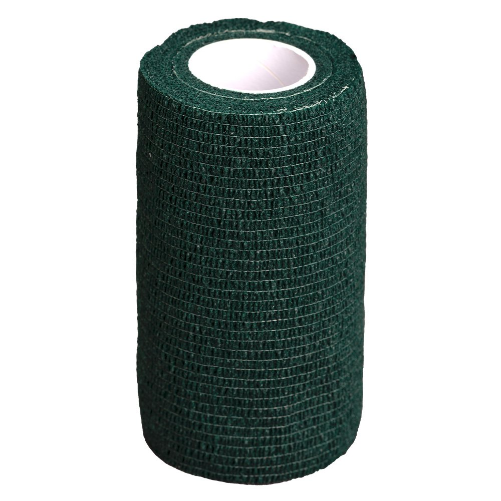 GlobalFlex - EASY-RIP COHESIVE BANDAGE HUNTER GREEN (10cm x 4.5m) - Click to enlarge