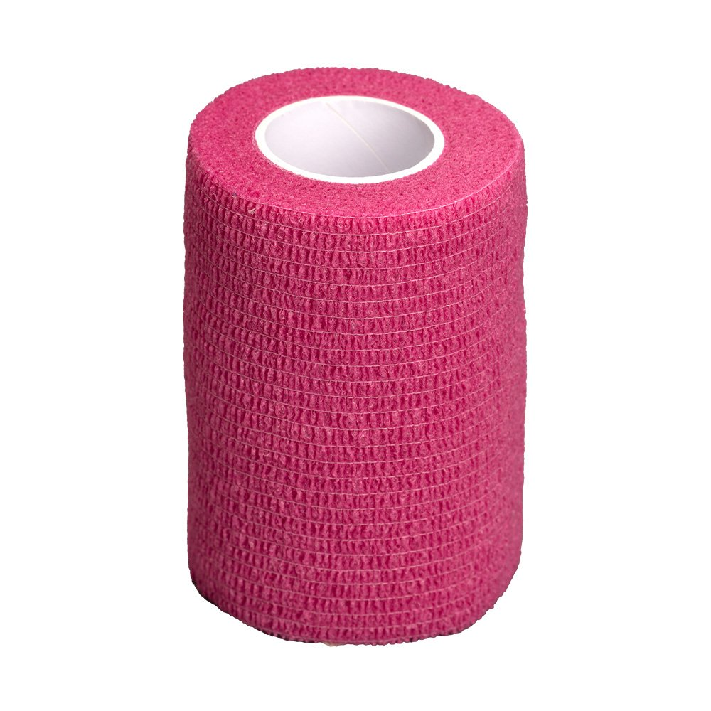 GlobalFlex - EASY-RIP COHESIVE BANDAGE PINK (7.5cm x 4.5m) - Click to enlarge