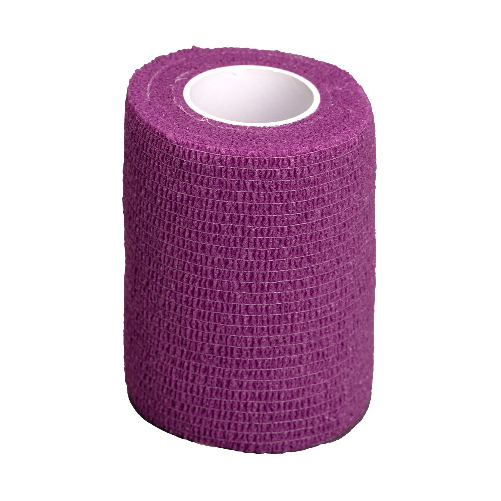 GlobalFlex - EASY-RIP COHESIVE BANDAGE PURPLE (7.5cm x 4.5m) - Click to enlarge
