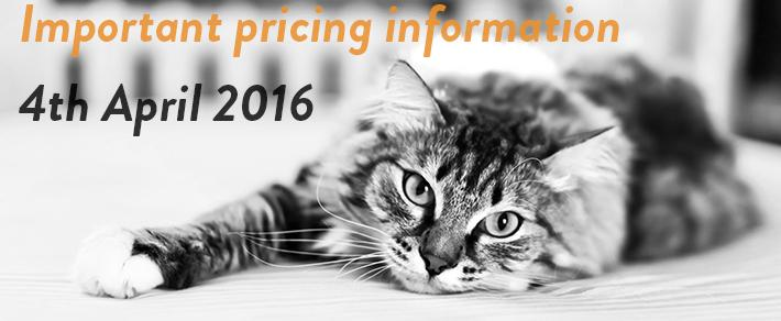Price Rise Effective 4th April 2016 - LIVE NOW