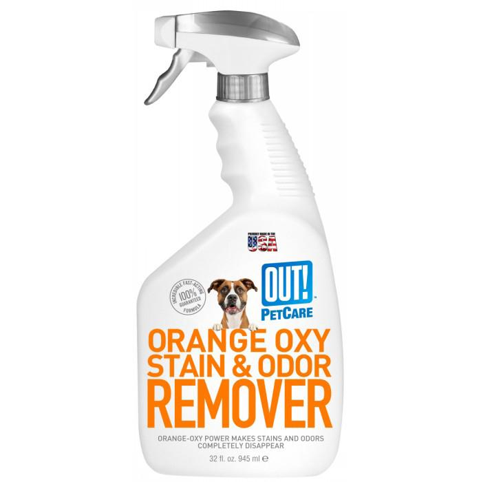 Out! Petcare - ORANGE OXY-FAST STAIN & ODOUR  SPRAY 945ml - Click to enlarge