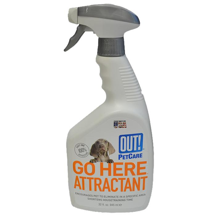 Out! Petcare - 'GO HERE' ATTRACTANT TRAINING SPRAY 945ml - Click to enlarge