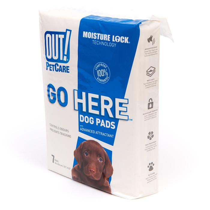Out! Petcare - MOISTURE LOCK TRAINING PAD 55x55cm - 7pk