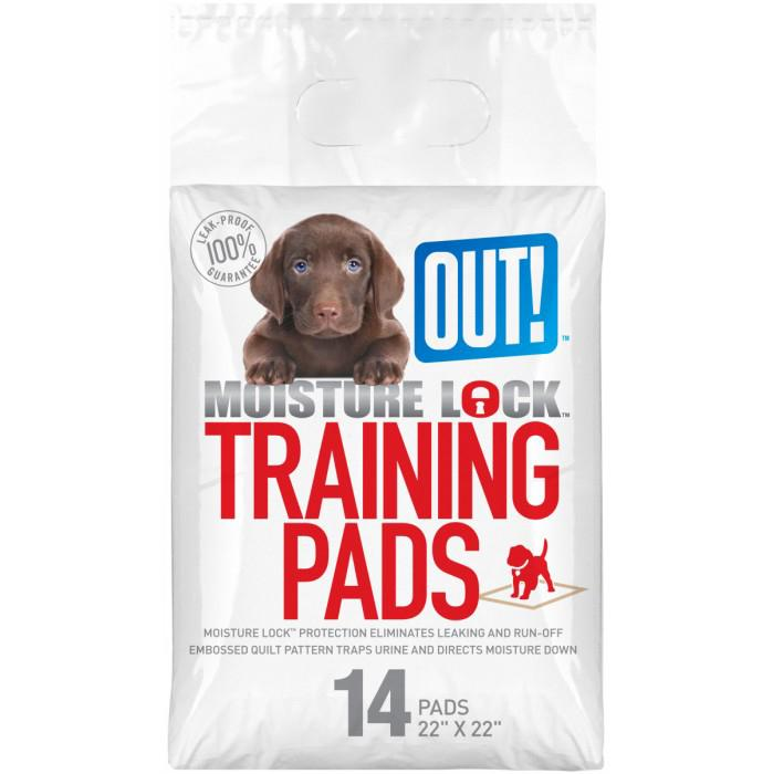Out! Petcare - MOISTURE LOCK TRAINING PAD 55x55cm - 14pk - Click to enlarge