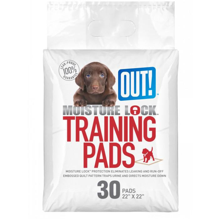 Out! Petcare - MOISTURE LOCK TRAINING PAD 55x55cm - 30pk - Click to enlarge
