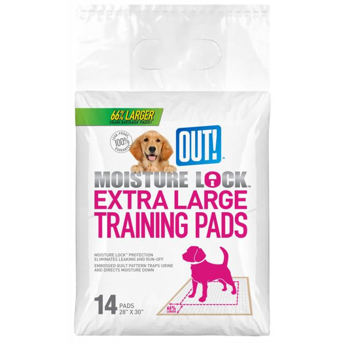 Out! Petcare - MOISTURE LOCK XL TRAINING PAD 71x76cm - 14pk - Click to enlarge