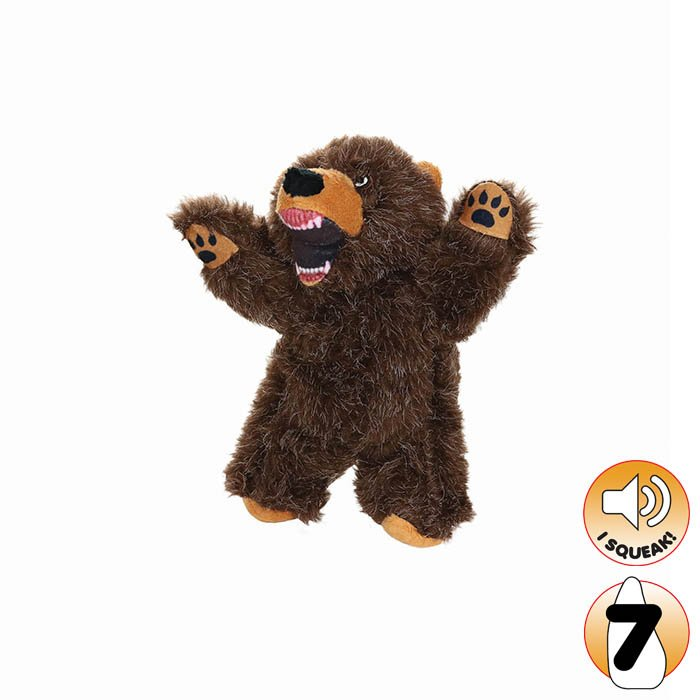 Tuffy Mighty Toy Jr Angry Animals Bear 150 Dog Toys