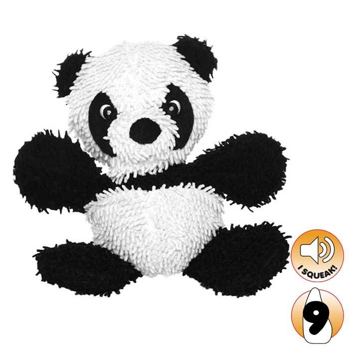 Tuffy - MIGHTY TOY MICROFIBER BALL PANDA - Click to enlarge