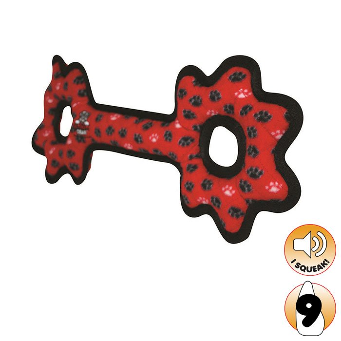 Tuffy ULTIMATES TUG-O-GEAR Red Paws - Click to enlarge