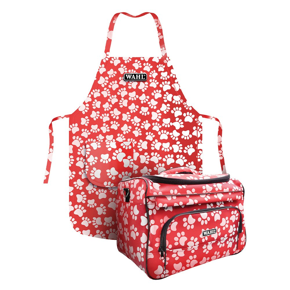 Wahl TOOL BAG - Pink W/Paw Print and Apron 2020 Summer Promo - Click to enlarge