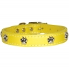 "PAW ORNAMENT COLLAR 3/4"" x 20"" Yellow (51cm) - Click for more info"