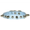 SPIKE & STUD COLLAR 13mm x 36cm Baby Blue - Click for more info