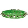 SPIKE & STUD COLLAR 19mm x 41cm Emerald Green - Click for more info