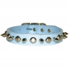 SPIKE & STUD COLLAR 19mm x 51cm Baby Blue - Click for more info