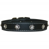 "FILIGREE & CRYSTAL COLLAR 1"" x 26"" Black (66cm) - Click for more info"