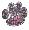 AlphaPet PAW COLLAR CHARM Pink Diamontes - Click for more info
