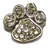 AlphaPet PAW COLLAR CHARM White Diamontes - Click for more info