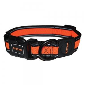 Scream REFLECTIVE ADJ. COLLAR Loud Orange 3.8cm x 48-76cm - Click for more info