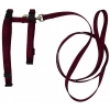 "Prestige ADJUSTABLE CAT/PUPPY 3/8"" HARNESS w/LEASH Burgundy - Click for more info"