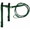 "Prestige ADJUSTABLE CAT/PUPPY 3/8"" HARNESS w/LEASH H/Green - Click for more info"