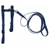 "Prestige ADJUSTABLE CAT/PUPPY 3/8"" HARNESS w/LEASH Navy - Click for more info"