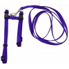 "Prestige ADJUSTABLE CAT/PUPPY 3/8"" HARNESS w/LEASH Purple - Click for more info"