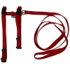 "Prestige ADJUSTABLE CAT/PUPPY 3/8"" HARNESS w/LEASH Red - Click for more info"