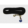 "FLAT NYLON DOG RECALL LEAD Black (1"" x 7M Long) - Click for more info"