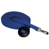 "FLAT POLY COTTON DOG RECALL LEAD 1"" x 30' (9M) Blue - Click for more info"