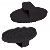 SMALL RUBBER CURRY COMB Black 13cm - Click for more info