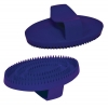SMALL RUBBER CURRY COMB Blue 13cm - Click for more info