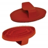 SMALL RUBBER CURRY COMB Red 13cm - Click for more info
