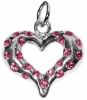 GLITTER COLLAR CHARM - HEART Small Pink (2cm) - Click for more info
