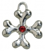 COLLAR CHARM - BAD TO THE BONE CROSS (2cm) - Click for more info